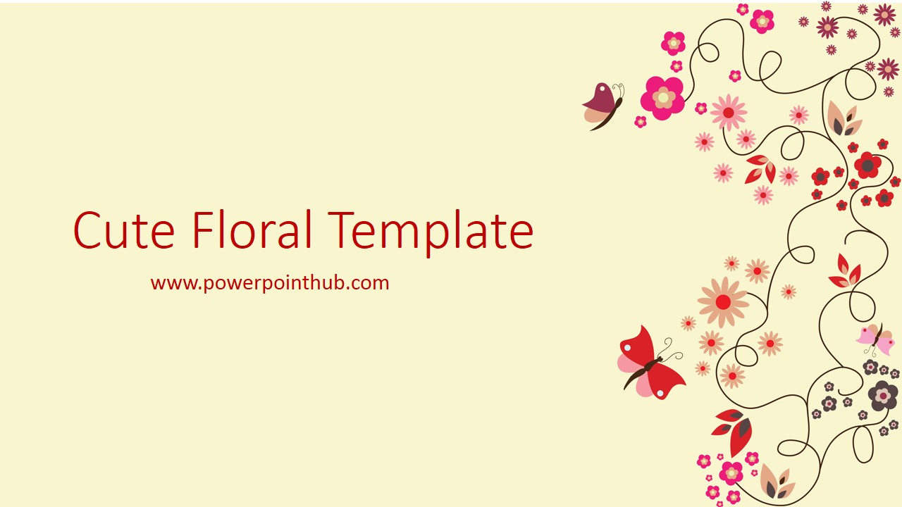 Free Powerpoint Template Cute Floral Template Powerpoint Hub